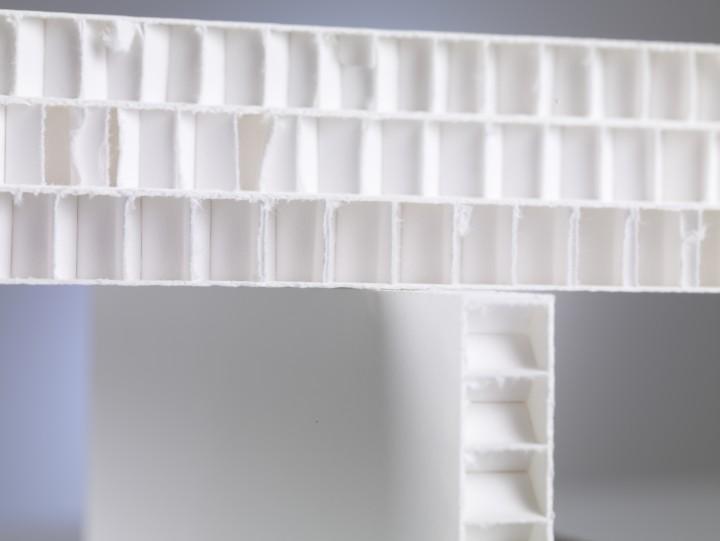 Archiv-Wabenplatte weiß - 140x250 cm - 13 mm Dicke_KB