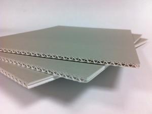 Archiv-Wellpappe EB-Welle säurefrei, alterungsbeständig 4,5 mm Dicke, 103x172 cm, grau_weiß_KB