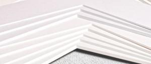 Passepartoutkarton classic weiß oder creme, 0,6 mm Dicke, 102x150 cm